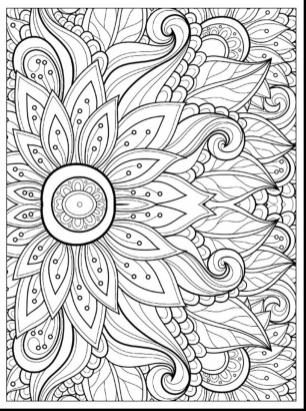 Flower Coloring Pages for Adults Floral Patterns lrg6