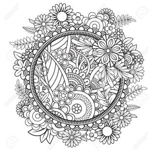 Flower Coloring Pages for Adults Floral Patterns mdl5