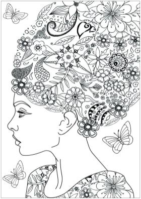 Flower Pattern Coloring Pages for Grown Ups ijb3