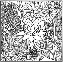 Flower Pattern Coloring Pages for Grown Ups plq1