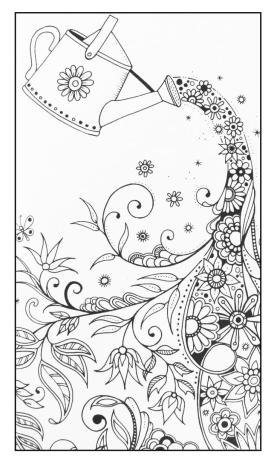 Flower Pattern Coloring Pages for Grown Ups tfx7