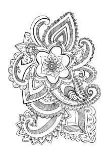 Flower Pattern Coloring Pages for Grown Ups yg6