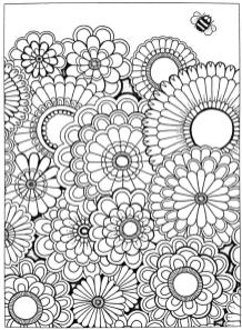 Flower Pattern Coloring Pages to Print for Adults rhc8
