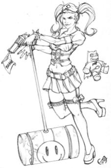 Harley Quinn Coloring Pages for Grown Ups 7bng