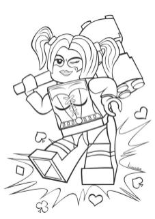 Harley Quinn Coloring Pages for Grown Ups 8ole