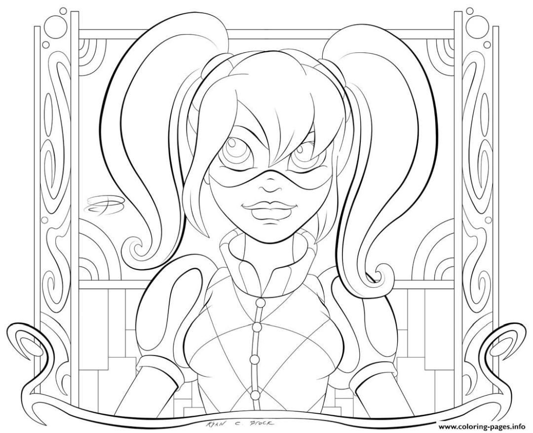 Harley Quinn Coloring Pages to Print 1dsg