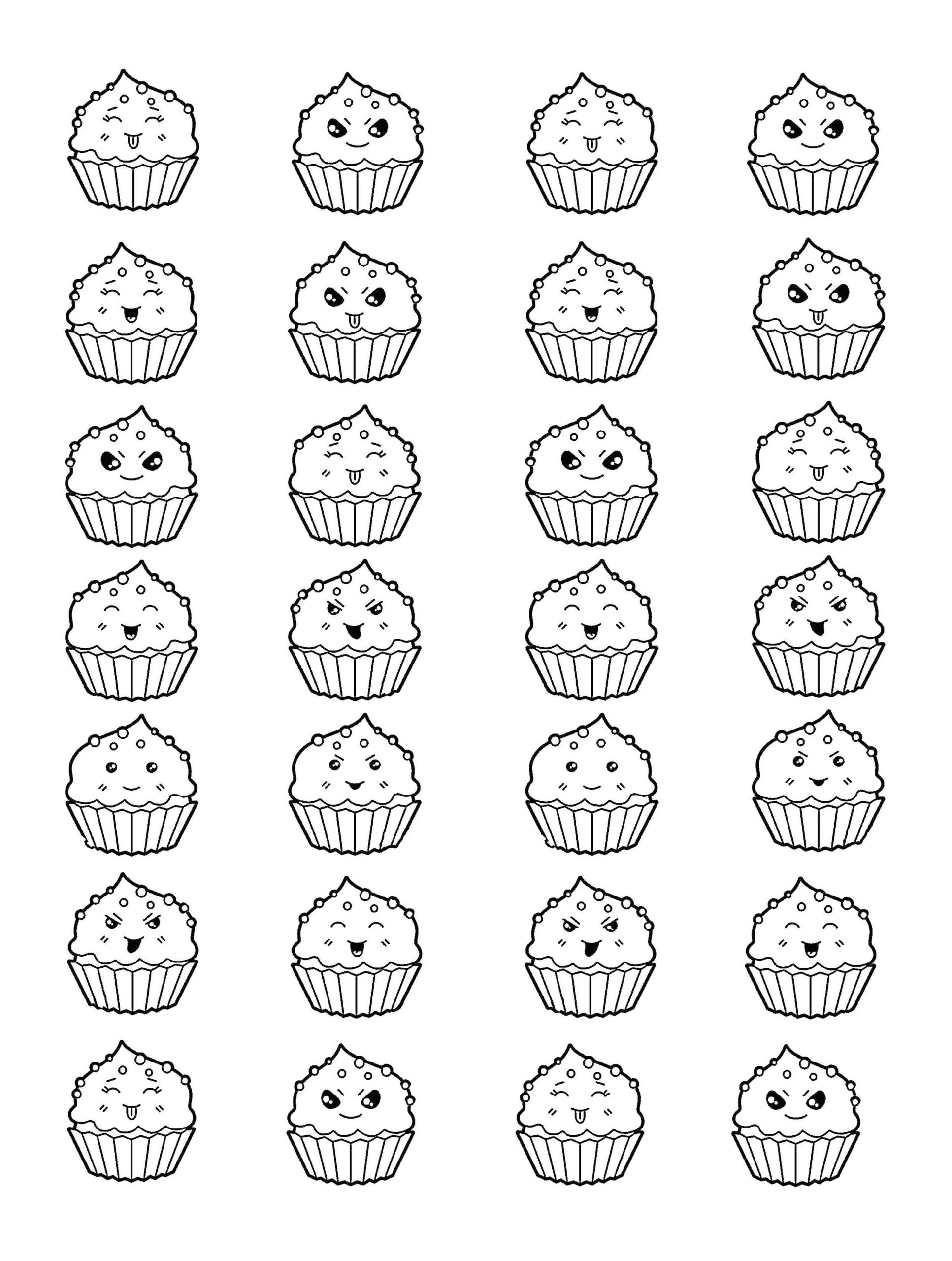 Kawaii Coloring Pages Easy