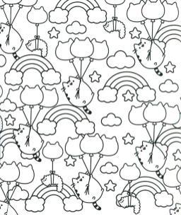 Kawaii Coloring Pages Free Printable Pusheen Cat