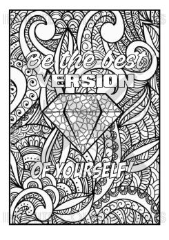 Printable Adult Coloring Pages Quotes Be The Best You