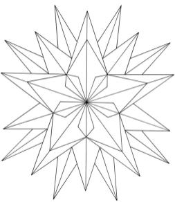 Star Coloring Pages Complex Star Design