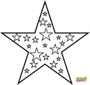 Star Coloring Pages Free to Print for Kids