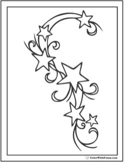 Star Coloring Pages Six Stars Intertwining Each Other
