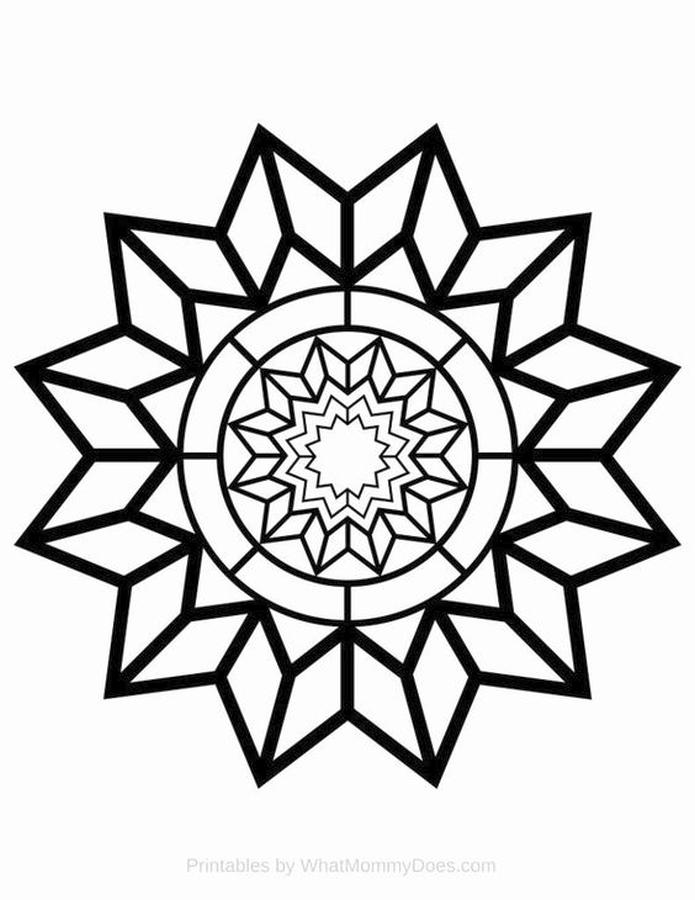 Star Coloring Pages Snowflake Star Design