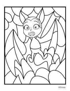 Vampirina Coloring Pages Bat Vampirina Surprised