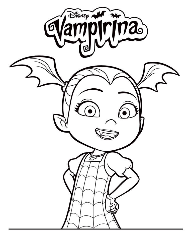 Vampirina Coloring Pages Free