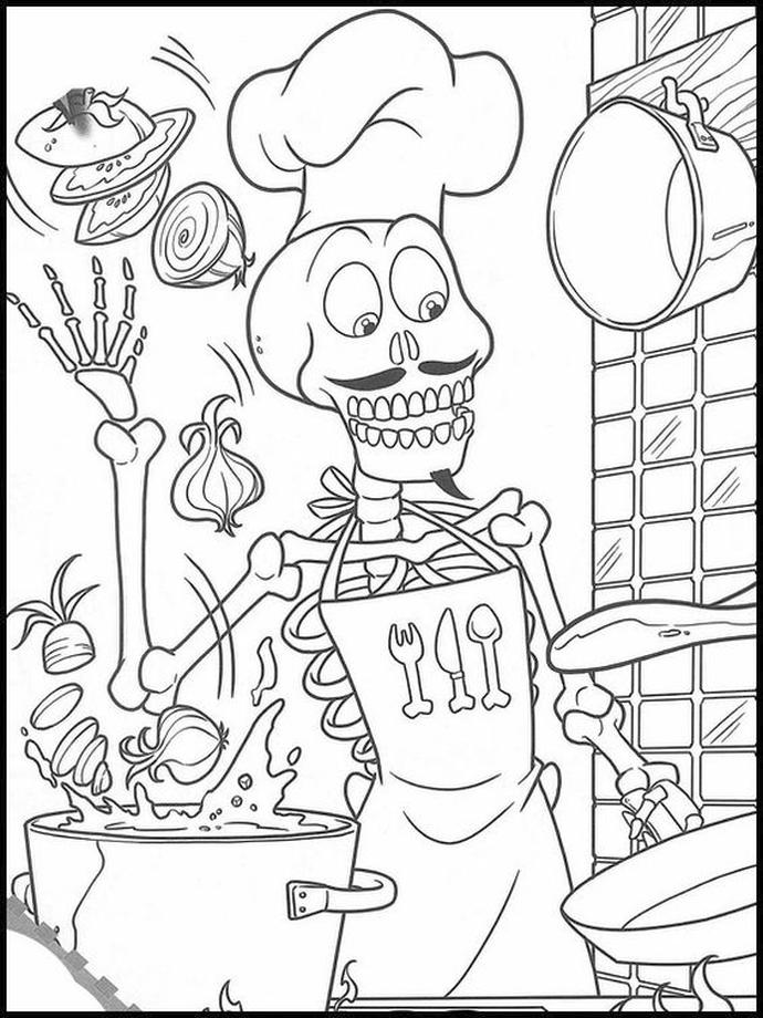 Vampirina Coloring Pages The Skeleton Cook