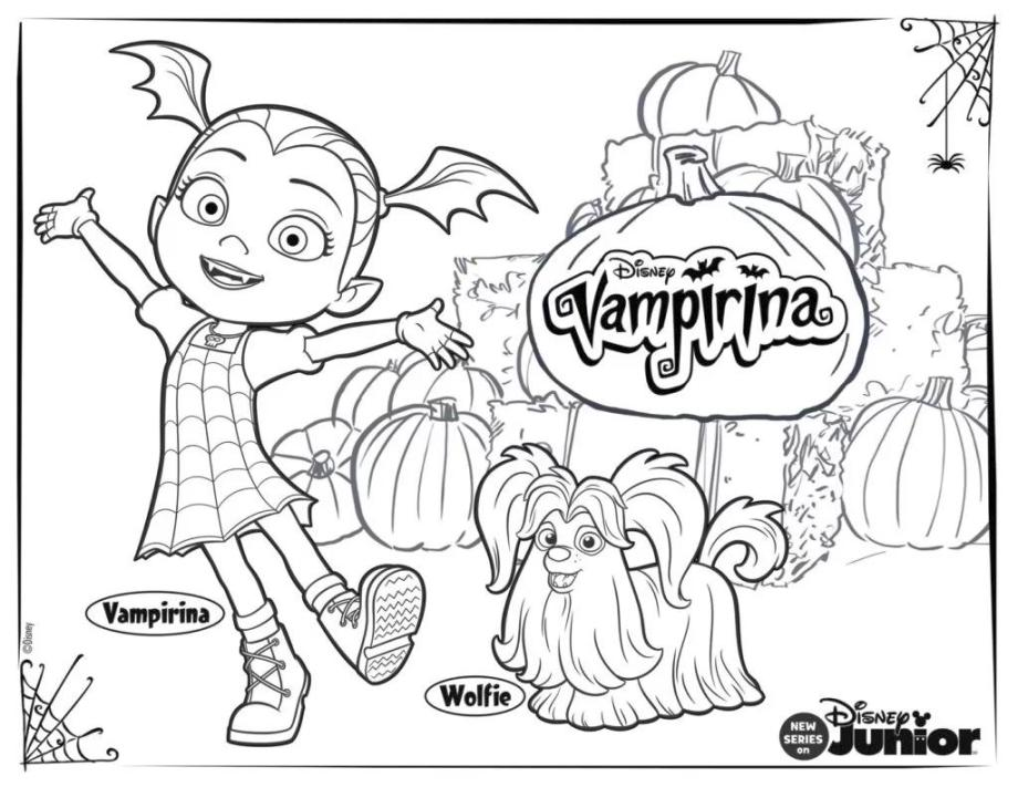 Vampirina Coloring Pages Vampirina and Wolfie