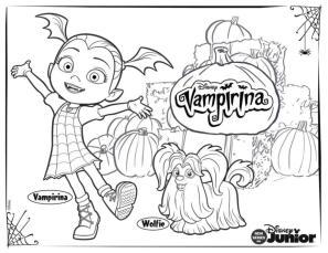 Vampirina Coloring Pages Vampirina and Wolfie
