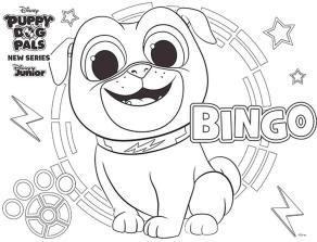 Bingo Puppy Dog Pals Coloring Pages Printable 7njk