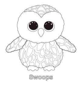 Swoops Beanie Boo Coloring Pages fdx3