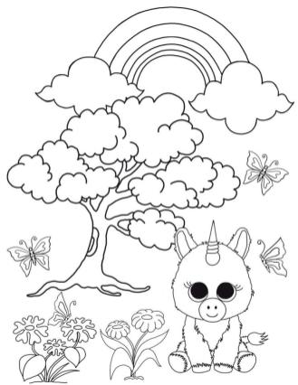Unicorn Beanie Boo Coloring Pages for Kids fdv0