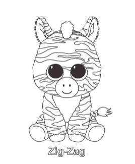 Zig Zag Beanie Boo Coloring Pages Free 8udp