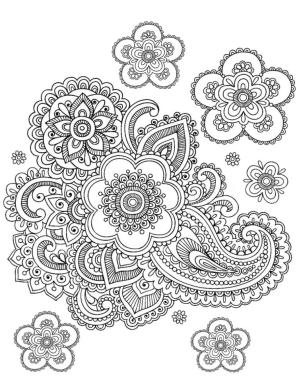 Adult Coloring Pages Paisley 3plf