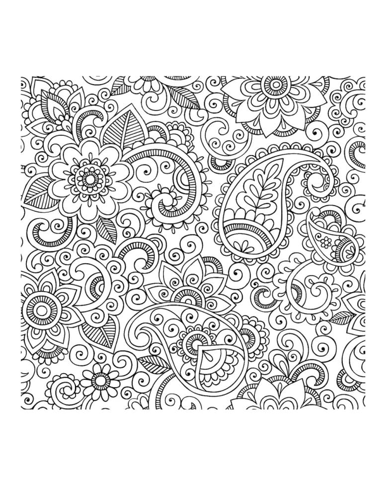 Adult Coloring Pages Paisley 6rds