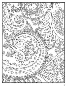 Adult Coloring Pages Paisley Free 3hso
