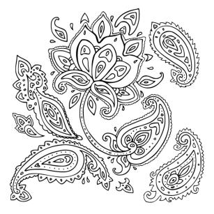 Adult Coloring Pages Paisley Printable 0plf