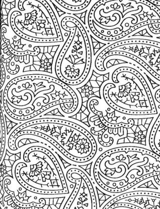 Adult Coloring Pages Paisley to Print 4snf
