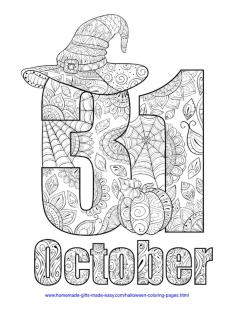 Adult Halloween Coloring Pages October 5oct