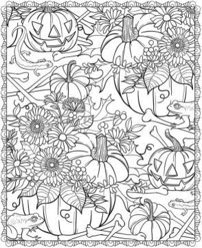 Adult Halloween Coloring Pages Pumpkin 1pmp