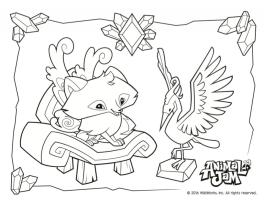Animal Jam Coloring Pages Free Printable 4fox