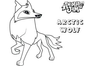 Arctic Wolf Animal Jam Coloring Pages to Print 3arc