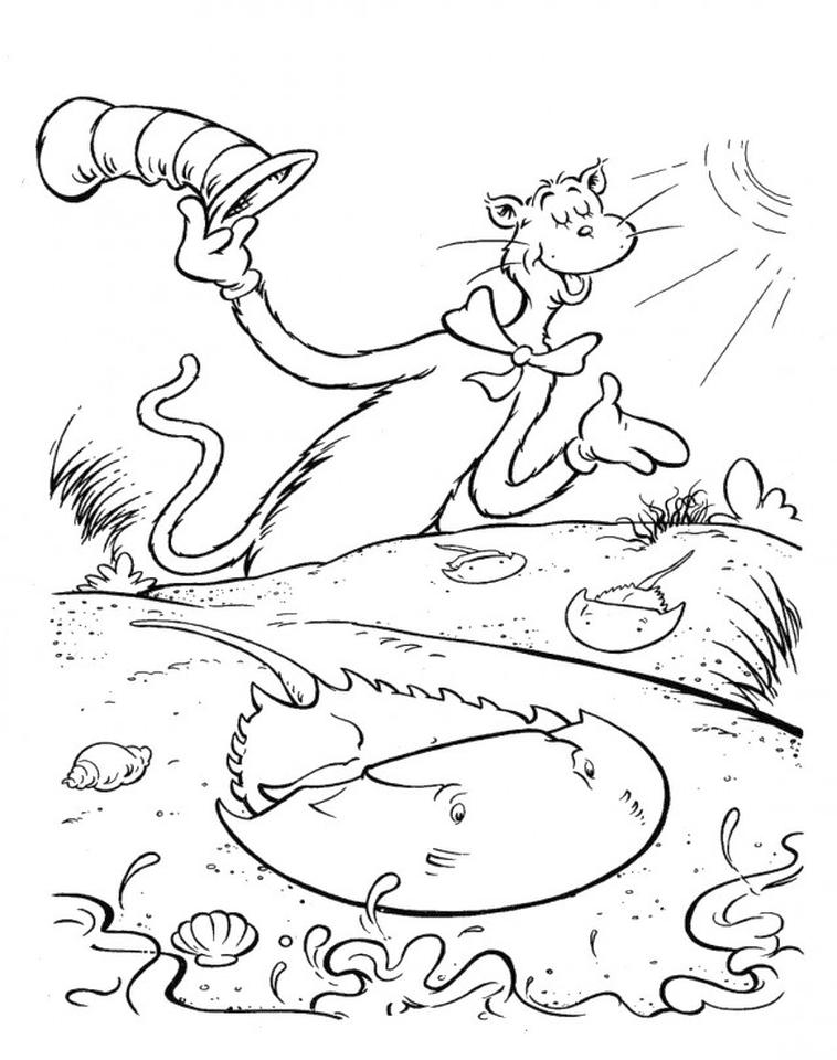 Cat In The Hat Coloring Pages to Print 7hyb