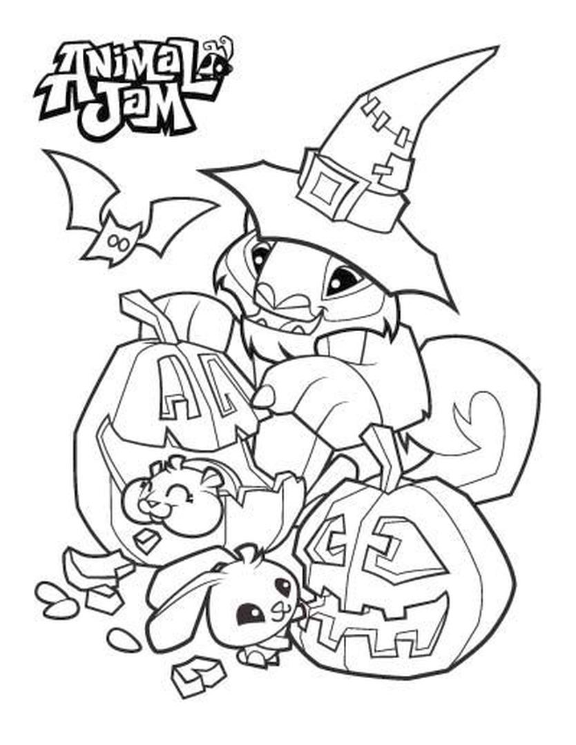 Halloween Animal Jam Coloring Pages for Kids 0hlw