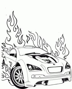 Hot Wheels Coloring Pages Free for Kids 6frb