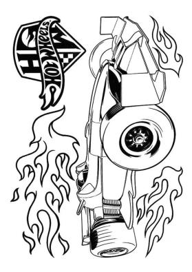 Hot Wheels Coloring Pages Printable 3brn