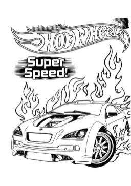 Hot Wheels Coloring Pages Printable 6ssp