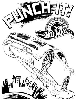 Hot Wheels Coloring Pages Race Car to Print 6pnc