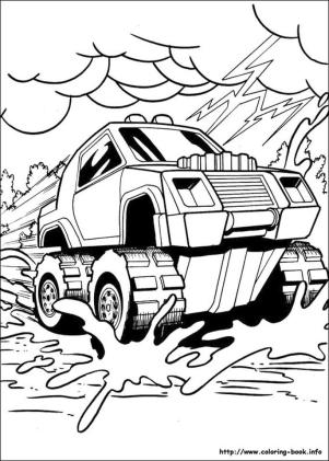 Hot Wheels Coloring Pages for Kids 5spl