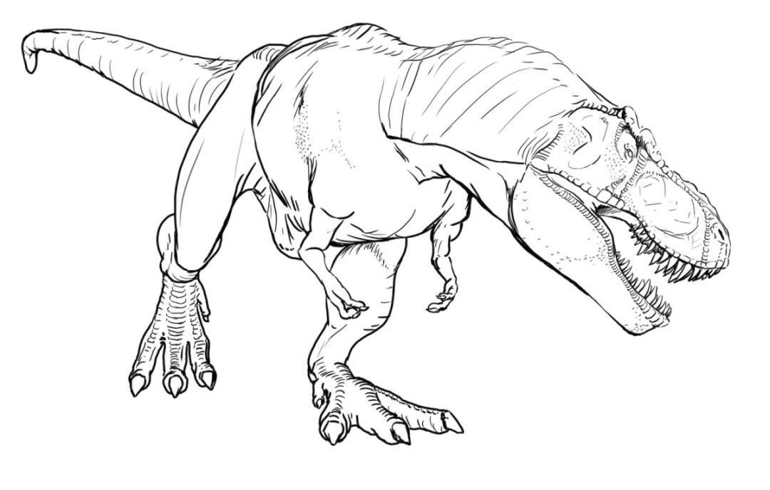 Jurassic World Coloring Pages Angry Dinosaurs 5and