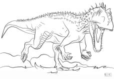 Jurassic World Coloring Pages Indominous Rex 2inr