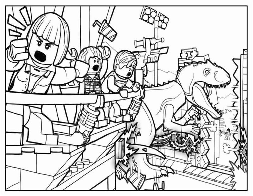 Jurassic World Coloring Pages Lego 0lgo