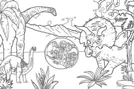 Jurassic World Coloring Pages Printable 9prt