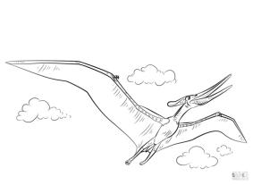Jurassic World Coloring Pages Pteronodon 6pte