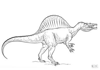Jurassic World Coloring Pages Spinosaurus 5spi
