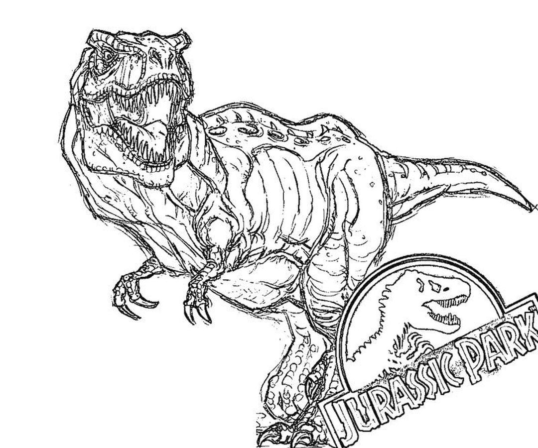 Jurassic World Coloring Pages Tyranosaurus Rex 1rxt