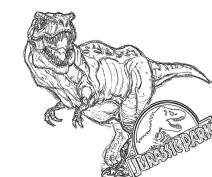 Jurassic World Coloring Pages Tyranosaurus Rex 1rxt